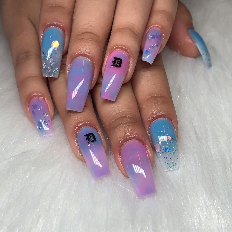 MARBLE NAILS DESIGN